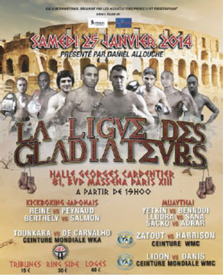 "Affiche ""Ligue des Gladiateurs"""