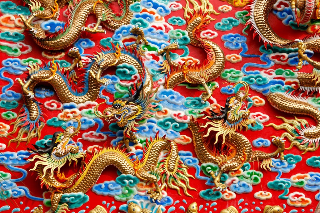 Dragons de la culture Thaï