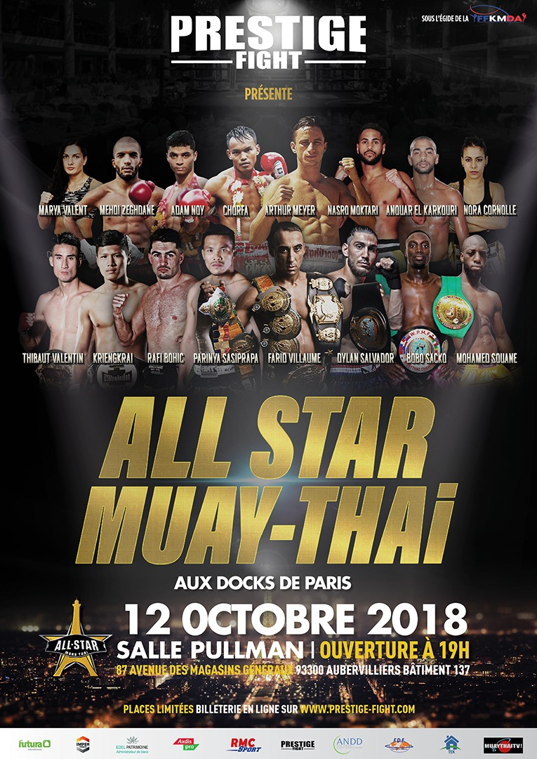 Prestige Fight présente son gala All Star Muay Thaï : Wagram II