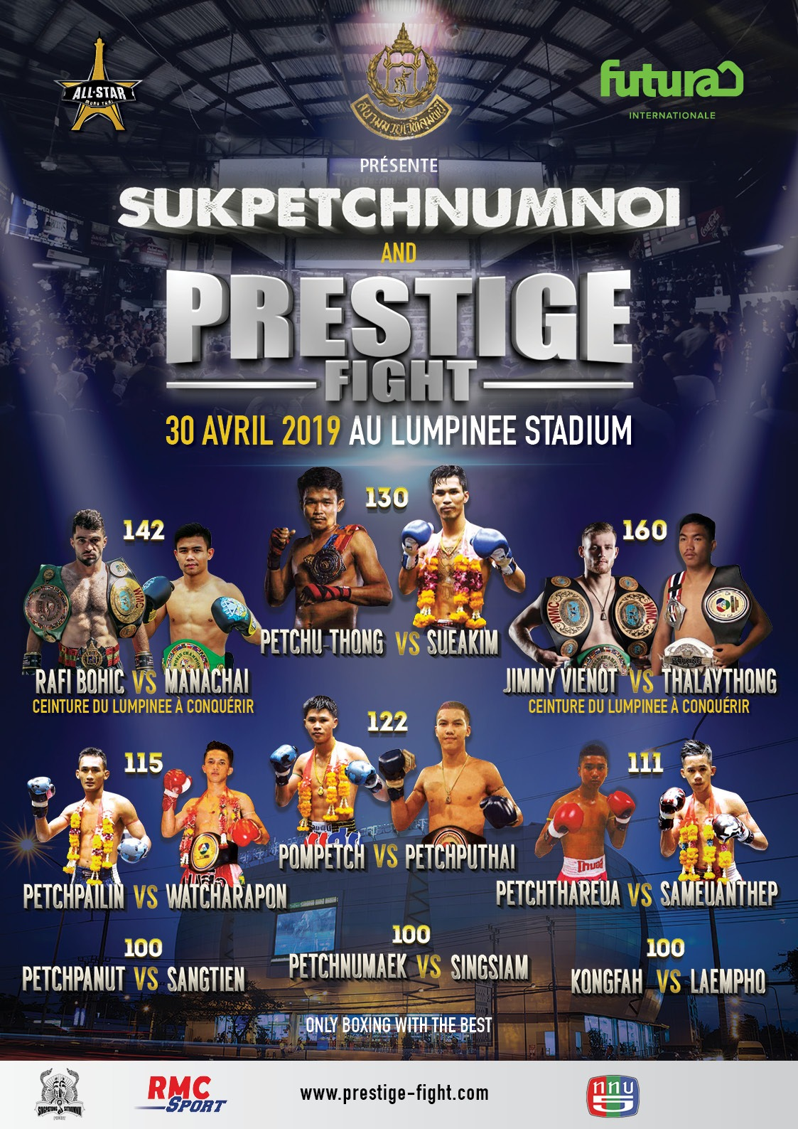 Prestige Fight présente son gala All Star Muay Thaï : Wagram I